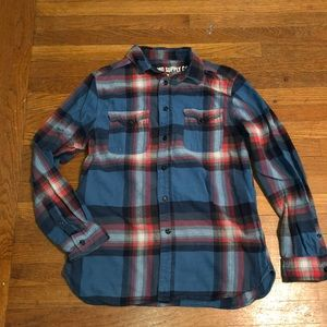 Men's Mossimo Supply Co Blue and Red Flannel Shirt